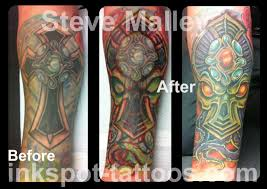 Cthulhu Alien Cover Up Tattoo By Steve Malley Tattoonow