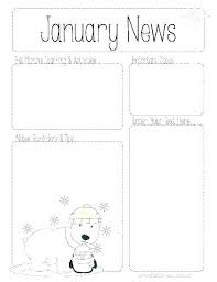 Winter Newsletter Template Templates Pertaining To Holiday