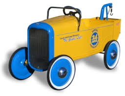 Children's Tow Truck Ride-on Pedal Car - Toddlers Treasures