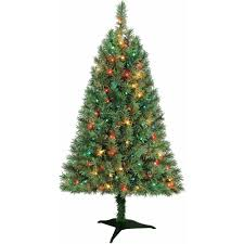 Holiday Time Pre-Lit 4' Indiana Spruce Artificial Christmas Tree, Multi