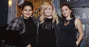 rebel wilson celebrates her dia co holiday collection rebel wilson just jared