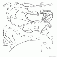Mom Dinosaur And Rudy Coloring Page сartoon Ice Age 3 Dawn Of