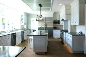 gray cabinets white countertop light