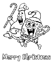 Small Picture Spongebob And Patrick Merry Christmas Coloring Pages Christmas