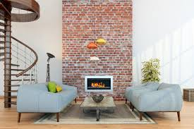the brick living room furniture. Small Living Room Arrangement With A Brick Fireplace. The Furniture