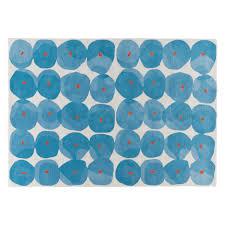 tash large blue patterned wool rug 170 x 240cm