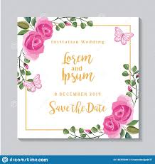 Save The Date Blank Invitation Card Stock Vector