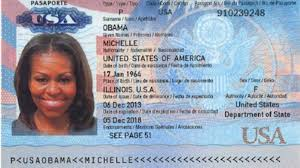 As Leaked Hell Looks Michelle This Obama Passport Allegedly Fake