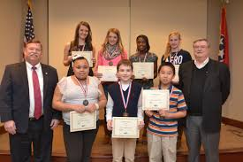 epb announces black history month essay contest winners nooga com front row from left to right hamilton county or jim coppinger kendra anderson of hunter middle school preston fore of hunter middle school