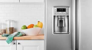 refrigerator with water and ice dispenser