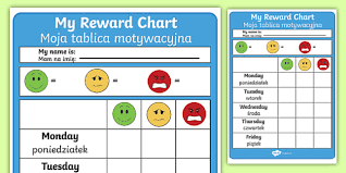 Editable Reward Chart Editable Reward Chart English Polish Editable Reward Chart