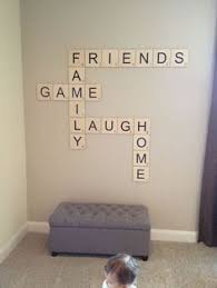 scrabble wall feature for game room scrabble wall feature for game room momaboutcharlotte home decor ideas interior design tips on game room wall art ideas with how to canvas art out of old t shirts pinterest game rooms