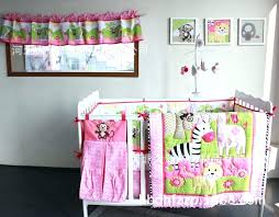 giraffe crib set zebra monkey embroidery girl baby bedding sets 8 pieces quilt per fitted