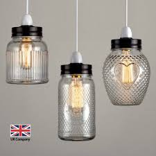 goldnts light uk company vintage retro style glass jar ceiling lights lampshades three lamps lighting replacement globes for pendant portrayals