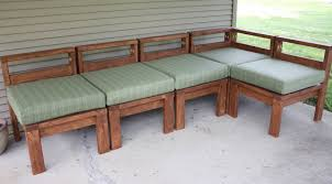 Diy Wood L Shaped Couch With Removable Cushions For Outdoor Of