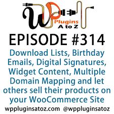 Wordpress Plugins A Z 314 Download Lists Birthday Emails