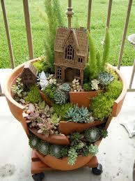 fairy garden on