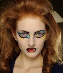 mac went graphic backse vivienne westwood aw13 red label london fashion week makeup legend