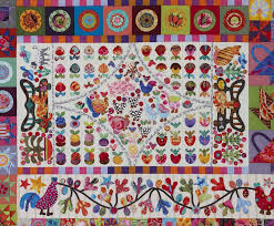 163 best KIM McLEAN QUILTS images on Pinterest | Quilt patterns ... & Glorious Applique: Pandemonium Quilt tutorial # hand piecing, kitchen  garden and the folly. Find this Pin and more on KIM McLEAN QUILTS ... Adamdwight.com