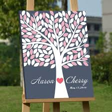 customized wedding fingerprint tree diy signature guest book baby shower birthday guestbook al party decoration casamento
