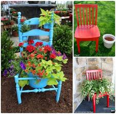 diy recycled chair planter shelf instruction ways to repurpose old chairs diy ideas