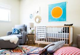 monte nursery furniture before after colorful in southern california family hand tufted west elm rug with traditional moroccan pattern set the palette for