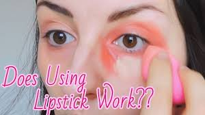 using lipstick to hide dark circles does this work meliaa