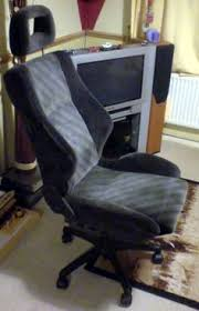 how to make a desk chair from a car seat via wikihowcom car seat office chairs