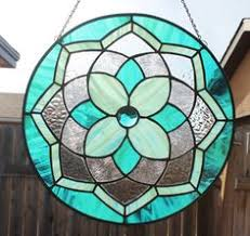 Stainglass window designs Simple Stained Glass Suncatcher Pink Teal Decorative Window Panel Large Suncatcher Stain Glass Window Window Decoration Round Glass Medallion The World Of Kitsch 6187 Best Stained Glass Ideas Images In 2019 Stained Glass