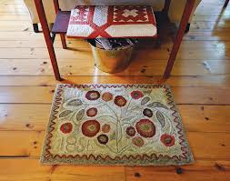 a passion for hand hooked rugs