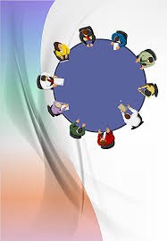 roundtable gradation curve creative corporate background