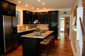 Kitchens With Black Appliances Black Kitchen Appliances With Grey Cabinets Bronze Single Hole