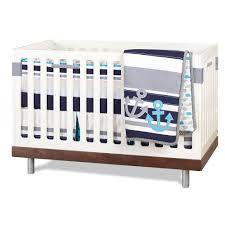 just born high seas bedding collection 3 piece crib set