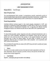 Property Manager Job Description Samples Property Management Job Description Sample 10 Examples In