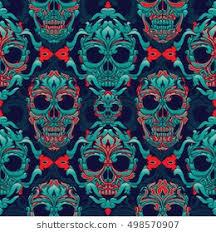 Skull Pattern Mesmerizing Skull Pattern Images Stock Photos Vectors Shutterstock