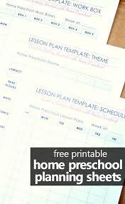 Free Printable Lesson Plan Template Home Preschool Lesson Plan Template Fantastic Fun Learning