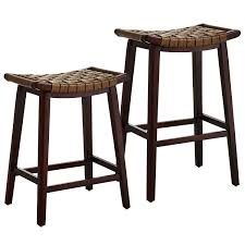 faux leather bar stools. Brown Keating Backless Bar \u0026 Counter Stools - Woodland Faux Leather