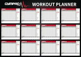 Details About Gympad 12 Week Fitness Workout Planner Premium Quality A2 Wall Chart Poster