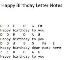 Happy Birthday Easy Sheet Music And Tin Whistle Notes