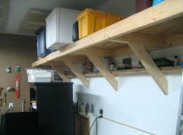 garage shelving ideas do yourself wall mounted wooden garage storage shelves design ideas