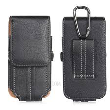 size 130 x 65 x 10mm card holder vertical flip leather holster with belt loop for