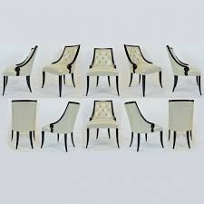 Home decor christopher guy furniture dining Faacusa Decor Weekly Design Discovery Homegramco Set Of Ten Christopher Guy megeve Black Lacquer Dining Chairs