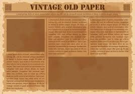 Old Fashion Newspaper Template Old Newspaper Free Vector Art 1 608 Free Downloads