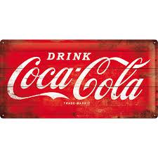 COCA COLA LOGO RED Blechschild 25x50cm bestellen