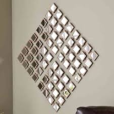 Small Picture Wall Art Decor Metal Captivating Mirrored Wall Art Design