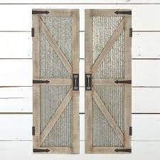 wood barn door wall panel set