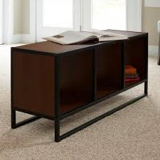Cth occasional the cube coffee table provides simplicity of design with great craftsmanship. Household Essentials 43 In Walnut Large Rectangle Wood Coffee Table With Storage Cubes 8138 1 The Home Depot