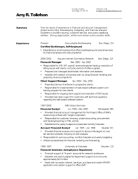 Creative Bookkeeper Resume With Certified And Financial Manager