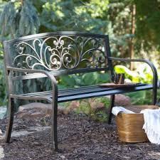 Rod Iron Bench  TreenovationGarden Metal Bench