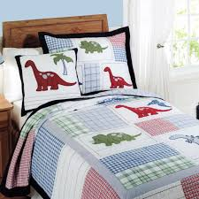 CHAUSUB Handmade Patchwork QUILT Set 2PC Quilted Cotton Quilts Bed ... & CHAUSUB Handmade Patchwork QUILT Set 2PC Quilted Cotton Quilts Bed Cover  Dinosaur Design Kids Coverlet Set Pillowcase Twin Size-in Quilts from Home  & Garden ... Adamdwight.com